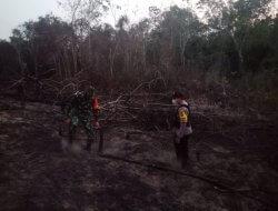 Polsek Nanga Pinoh Cek Titik Hotspot Kebakaran Hutan dan Lahan