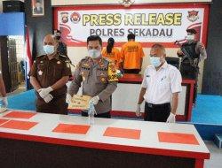 Polres Sekadau Gelar Pengungkapan Tindak Pidana Narkotika