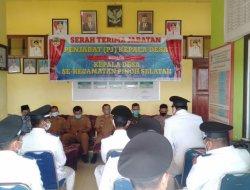 Rapat Serah Terima Jabatan KadesPeriode 2021-2027 Kecamatan Pinoh Selatan
