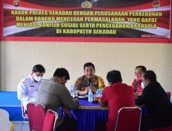 Antisipasi Karhutla, Polres Sekadau Adakan Rapat Koordinasi Dengan Pihak Perusahaan