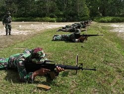 Gelar Latihan Menembak Jatri TW I TA. 2021, Kodim 1202/Singkawang Tetap Terapkan Disiplin Protokol Kesehatan