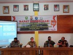 Rapat Koordinasi Pembinaan Desa Oleh Forkopimcam Kecamatan Entikong Tahun 2021