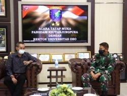 Jalin Kerja Sama, Pangdam XII/Tpr Terima Kunjungan Rektor Universitas OSO