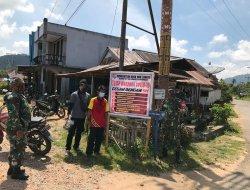 Pasang Spanduk, Upaya Koramil Toho Himbau Masyarakat Patuhi Protokol Kesehatan