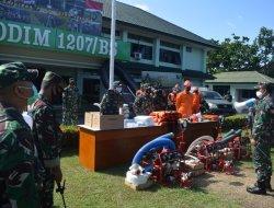 Antisipasi Bencana Siklon Tropis Surigae, Kodim 1207 Siagakan Pasukan dan Perlengkapan