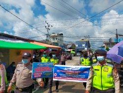Polres Kubu Raya Himbau Prokes Covid-19 Kepada Masyarakat Melalui Operasi Keselamatan Kapuas 2021