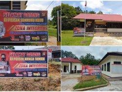 Polres Sekadau Pasang Spanduk ZI Menuju Wilayah Bebas Korupsi