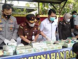 Jajaran Ditresnarkoba Polda Kalbar Musnahkan barang bukti Narkotika jenis Sabu