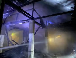 Diduga Akibat Korsleting Listrik, Masjid Assalihin Nanga Koman Terbakar