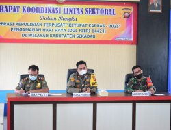 Rakor Lintas Sektoral Jelang Ops Pol Terpusat Ketupat Kapuas 2021 di Kabupaten Sekadau