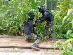 Patroli Batas Negara, Satgas Yonif 407 Kembali Amankan Belasan Kayu Olahan