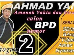 Ahmad  Yani Berharap Semoga Pemilihan BPD Berjalan Lancar