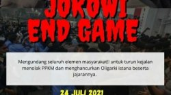 """Poster """"Jokowi End Game"""""""
