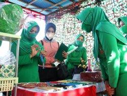 Ketua Persit KCK Daerah XII/Tpr Resmikan Posbindu Penyakit Tidak Menular Cabang 58 Yonzipur 6