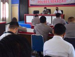 Polres Sekadau Gelar Rapat Terkait Penanganan Karhutla