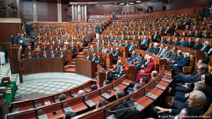 The Moroccan parliament in Rabat