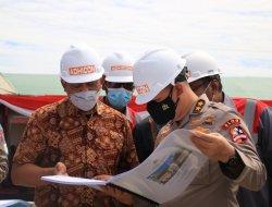 Aslog Kapolri Tinjau Pembangunan Laboratorium Forensik di Kubu Raya